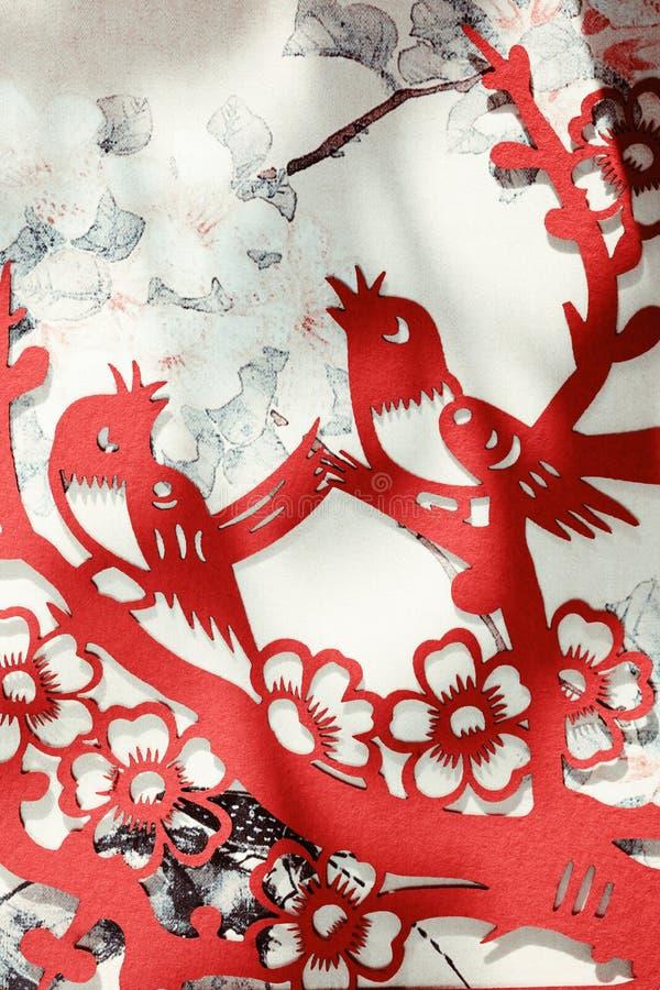 traditionellt kinessnittpapper arkivbild