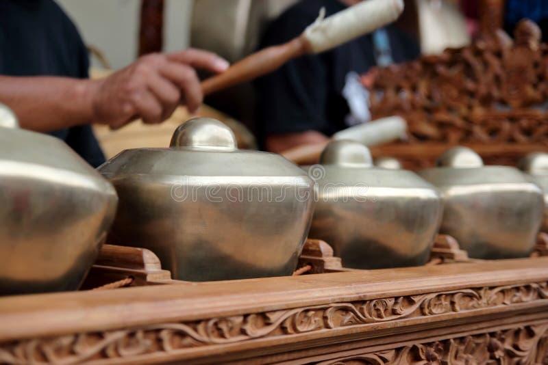 Traditionellt musikinstrument för Malay arkivfoto