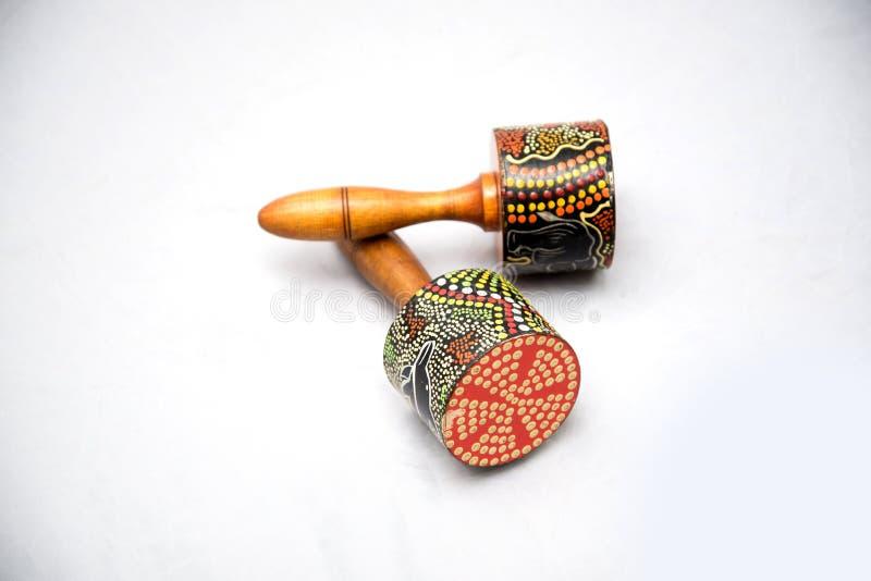 Traditionellt musikinstrument som göras av naturliga material arkivfoton