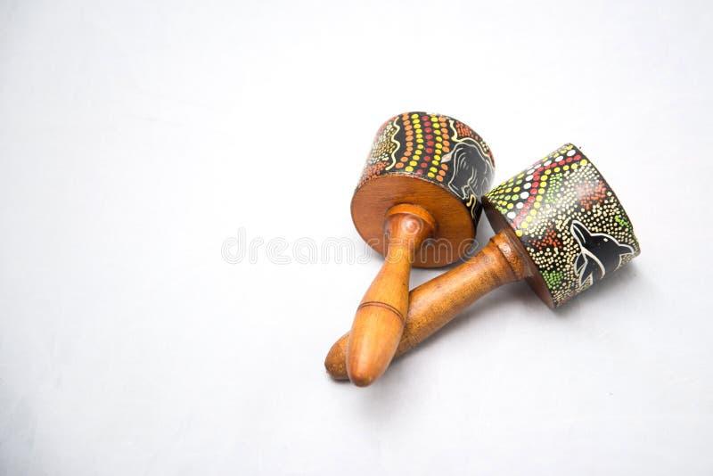 Traditionellt musikinstrument som göras av naturliga material royaltyfria bilder