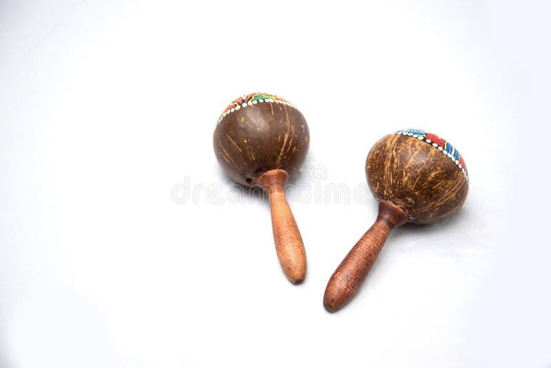 Traditionellt musikinstrument som göras av naturliga material arkivfoto