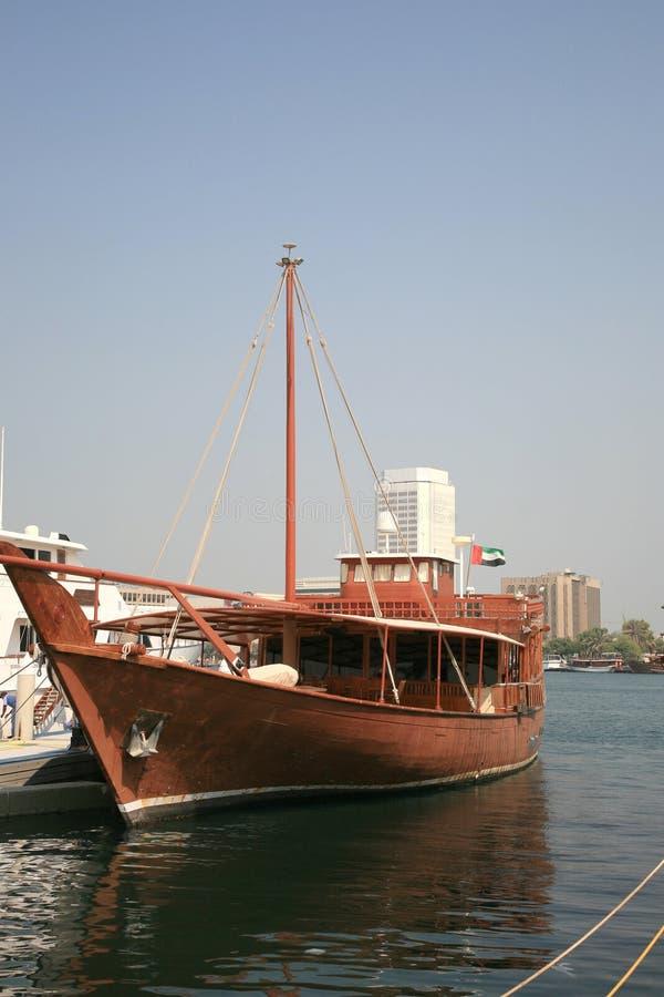 traditionellt trä för arabiskt fartyg royaltyfria bilder