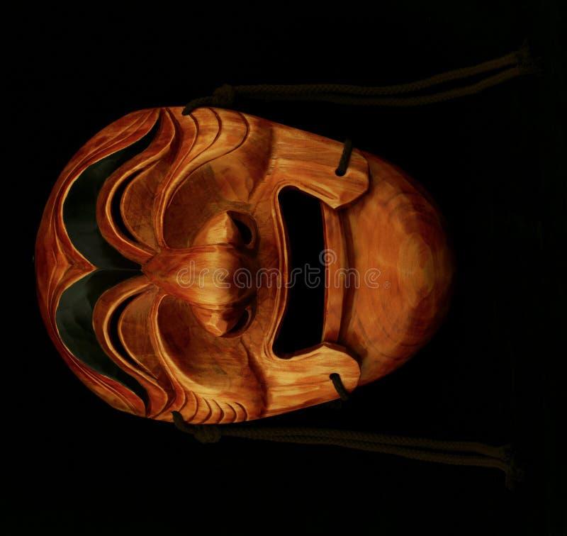 traditionellt trä för koreansk male maskering arkivfoton