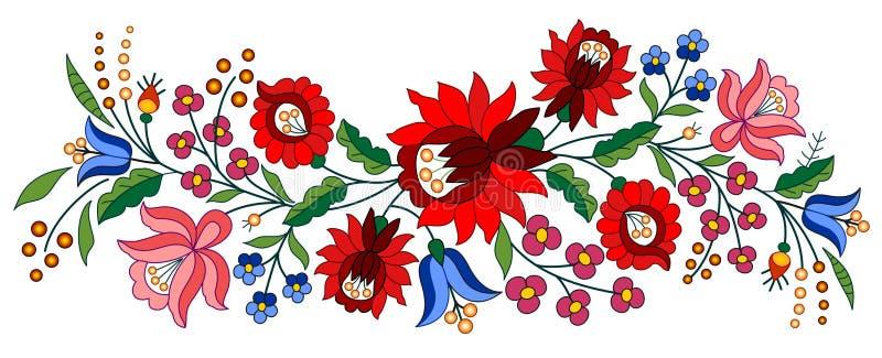 Traditionellt ungerskt motiv stock illustrationer