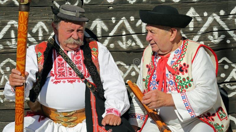 Traditioner Cicmany, Slovakien arkivfoton