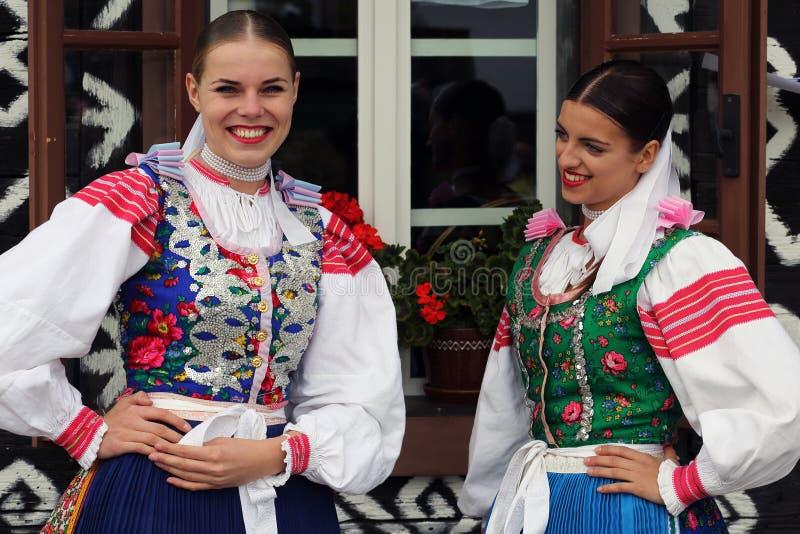 Traditioner Cicmany, Slovakien royaltyfri fotografi