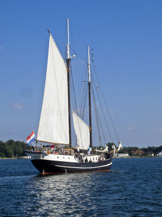 Download Traditionial schooner stock image. Image of ship, coast - 26609221