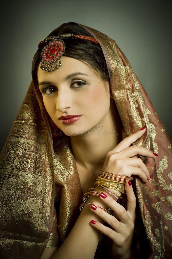 traditionl портрета costume стоковая фотография