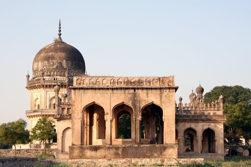 Traditions architecturales des tombes de Qutub Shahi, Hyderabad, Inde image libre de droits