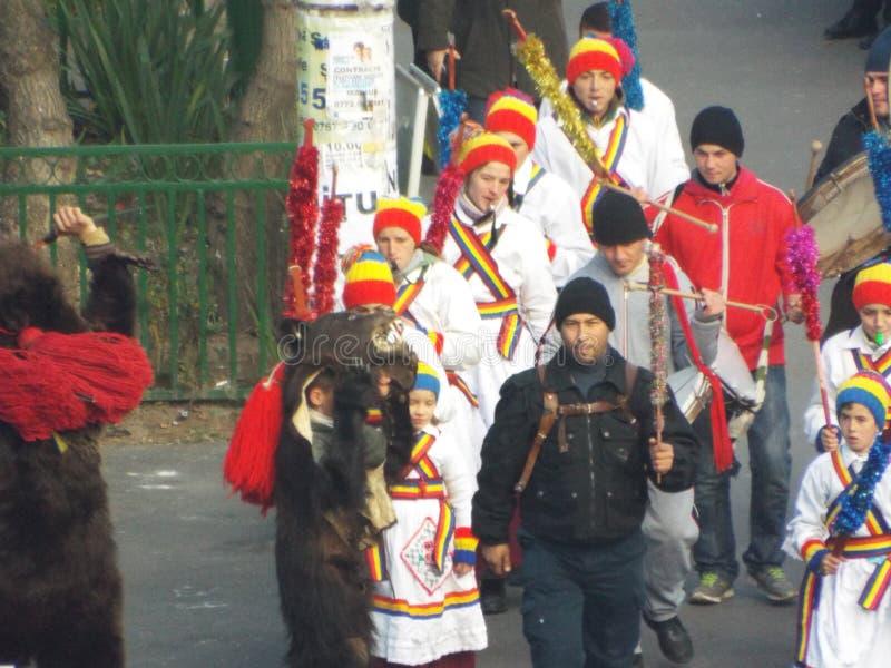 Traditions roumaines sur la rue de Bucarest photo stock