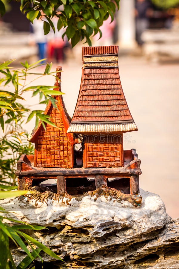 Traditionshus av Vietnam royaltyfria bilder