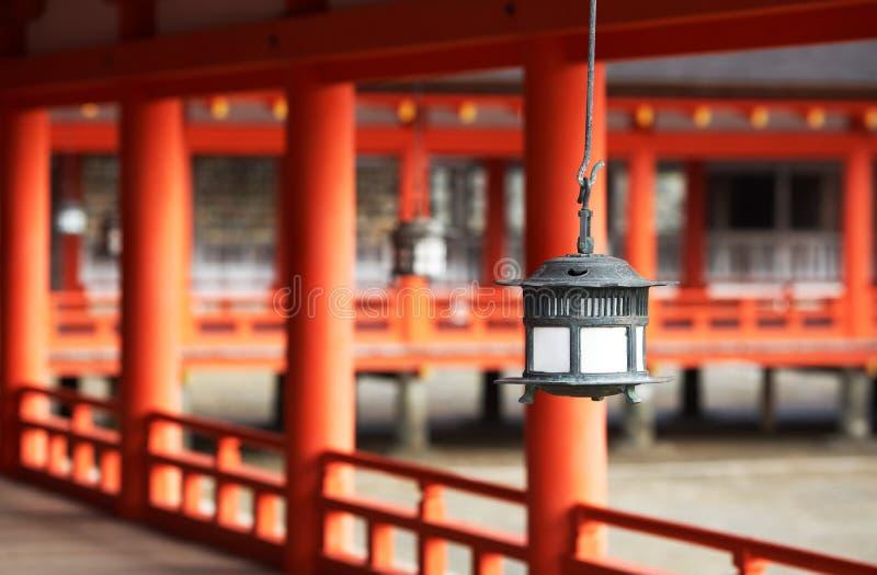 Traditonal Japanese Lantern At Ktsukushima Shrine royalty free stock photography