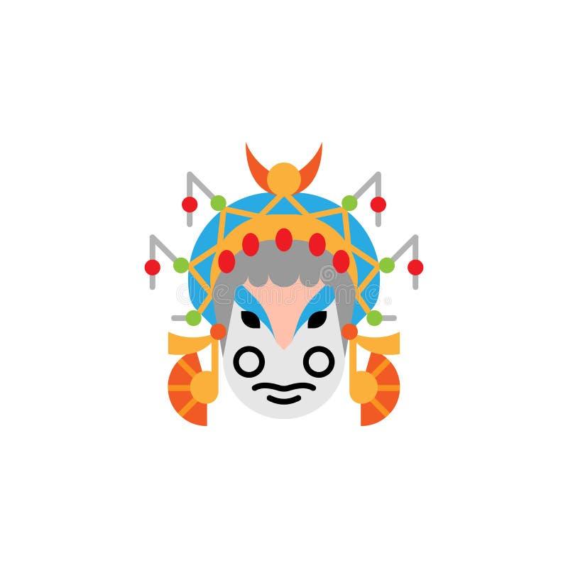 Tradizionale cinese, icona della maschera Elemento dell'illustrazione tradizionale cinese Icona premio di progettazione grafica d illustrazione di stock