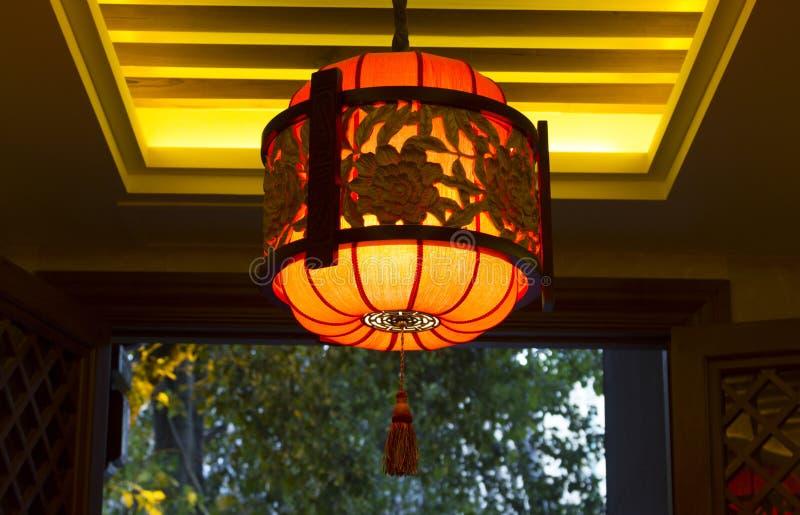 Tradizionale handcraft la lampada cinese fotografie stock libere da diritti