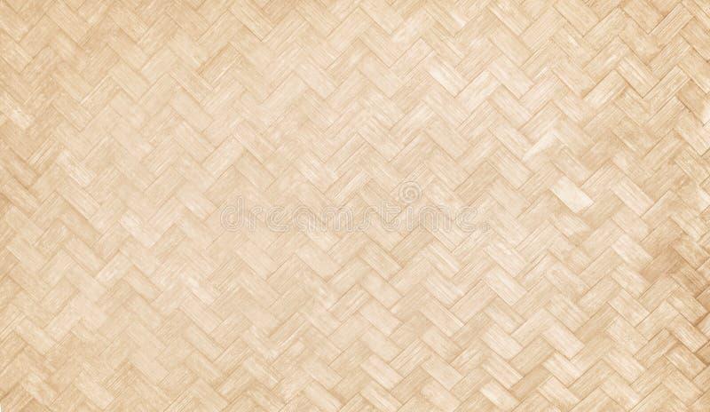 Tradizionale handcraft la struttura tessuta di bambù, modelli di legno della natura per fondo fotografie stock libere da diritti