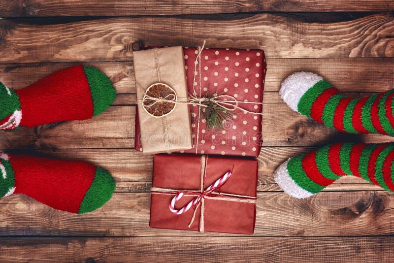 Tradizioni della famiglia di Natale fotografia stock libera da diritti