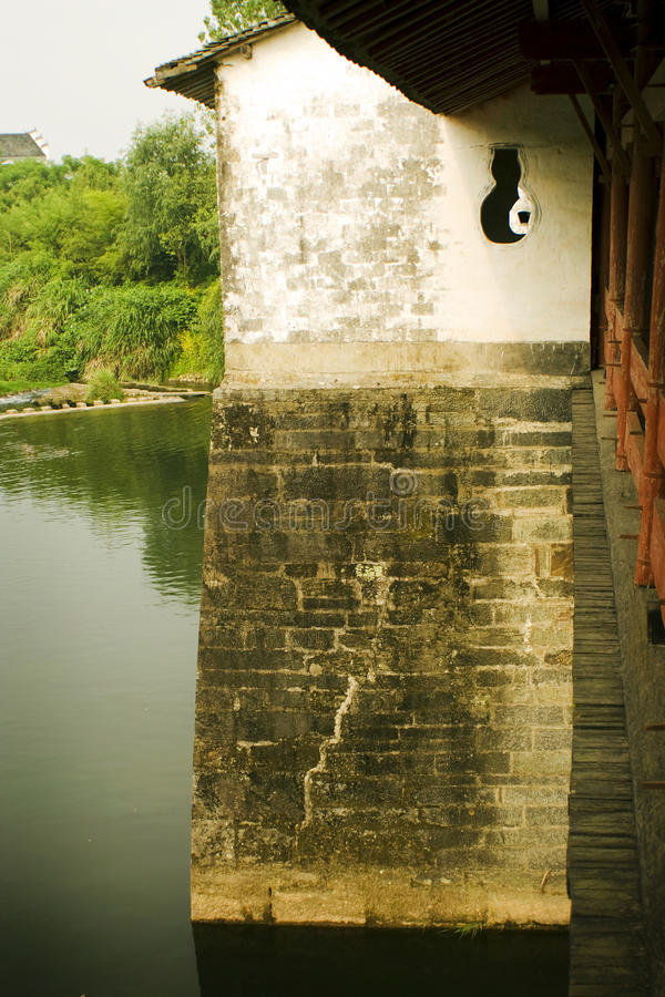 Tradtional architecture, bridge in South China royalty free stock photos