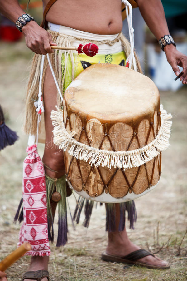 Tradtional hand drum stock photography