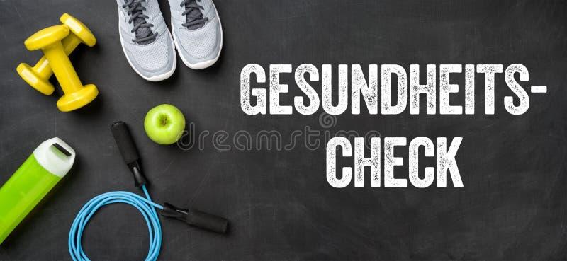 Tradução alemão de exame médico completo - Gesundheitscheck fotos de stock royalty free