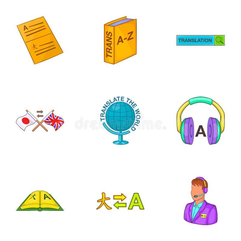 Download A Tradução De ícones Da Língua Ajustou-se, Estilo Dos Desenhos Animados Ilustração do Vetor - Ilustração de original, japão: 80102328