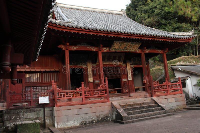 Tradução: ` Do templo de Sofukuji do `, uma incorporação da cultura chinesa imagens de stock