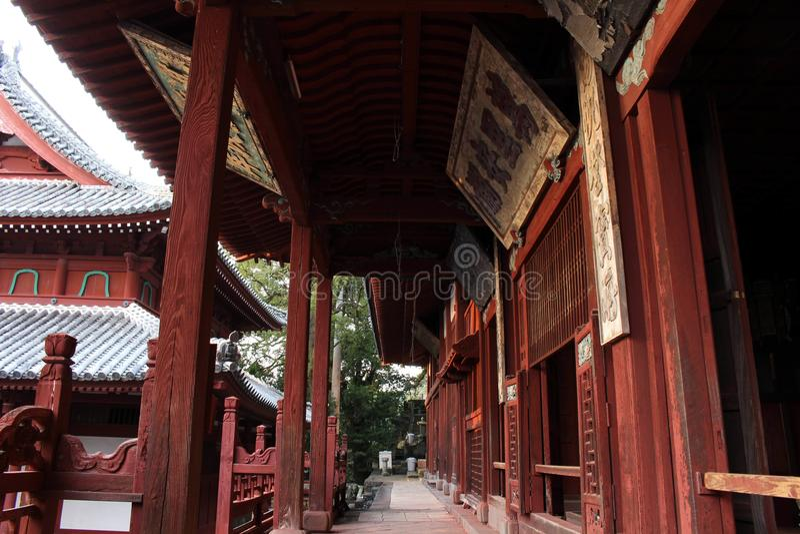 Tradução: ` Do templo de Sofukuji do `, uma incorporação da cultura chinesa foto de stock royalty free