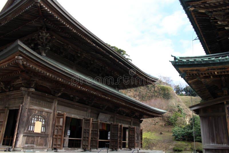 Tradução: ` Do templo do zen de Kenchoji do ` Um de cinco grande Zen Temples Gozan imagem de stock