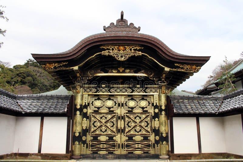Tradução: ` Do templo do zen de Kenchoji do ` Um de cinco grande Zen Temples Gozan imagem de stock royalty free