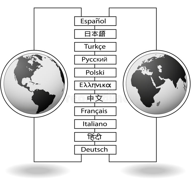Download Traductions Est-ouest De Langue Du Monde Illustration de Vecteur - Image: 14249832