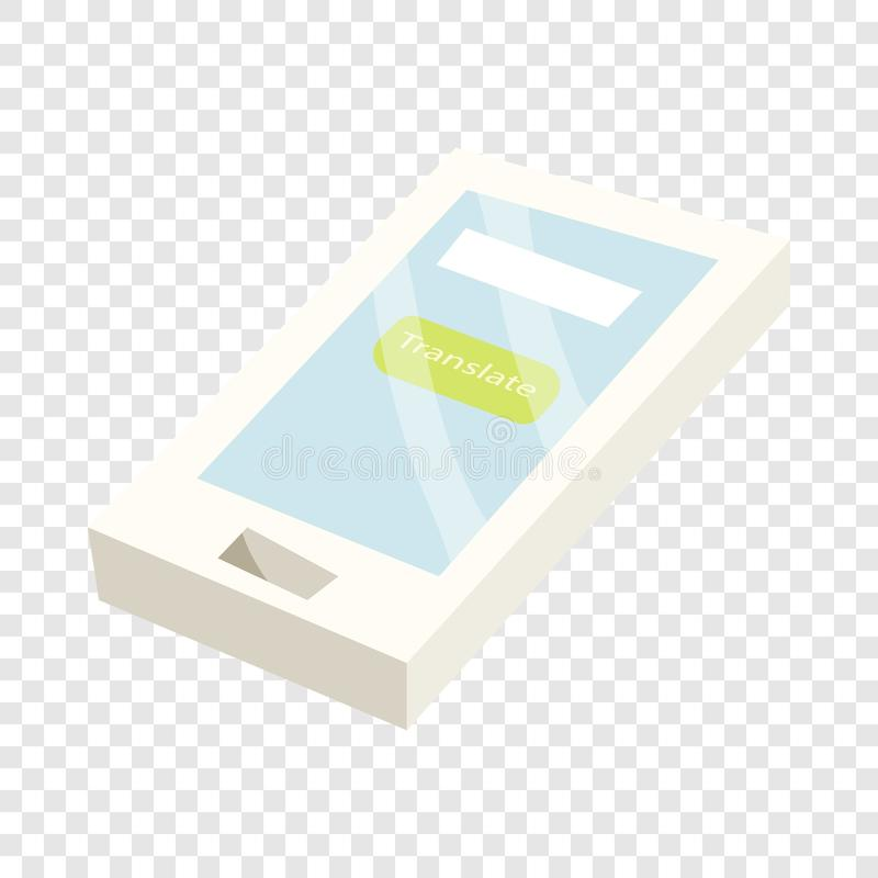 Traduisez l'application sur une ic?ne de smartphone illustration stock
