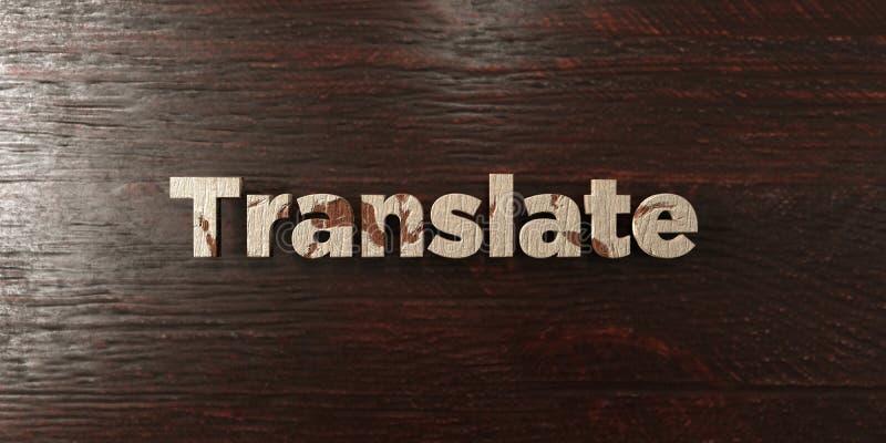 Traduisez - titre en bois sale sur l'érable - l'image courante gratuite de redevance rendue par 3D photographie stock libre de droits