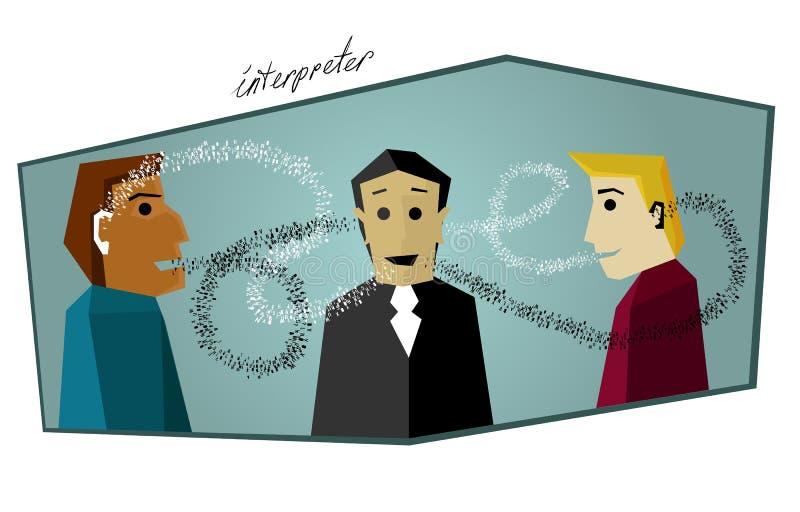 Tradutor no trabalho: Intérprete fotos de stock