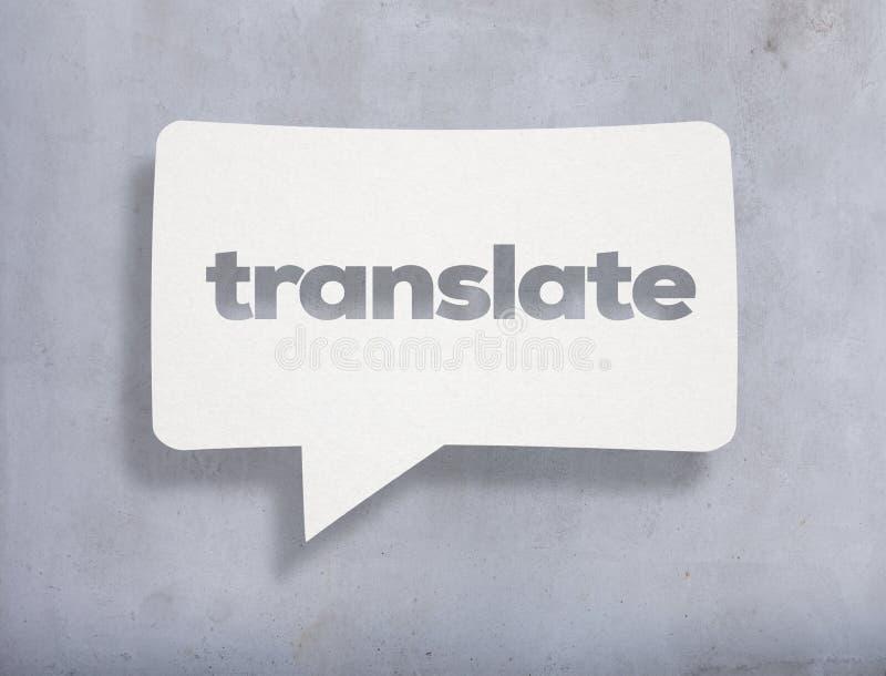 Traduza o texto na pedra ilustração stock