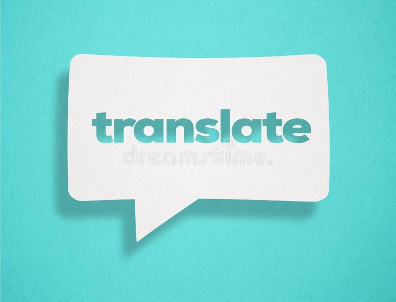 Traduza o texto no cartão ilustração do vetor