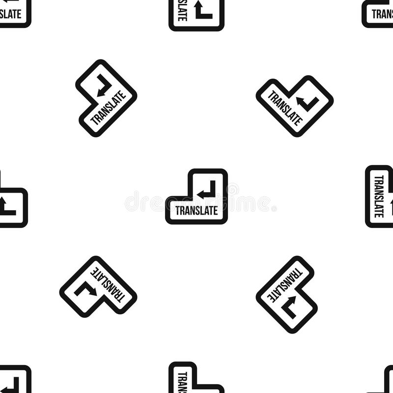 Traduzca el negro inconsútil del modelo del botón stock de ilustración