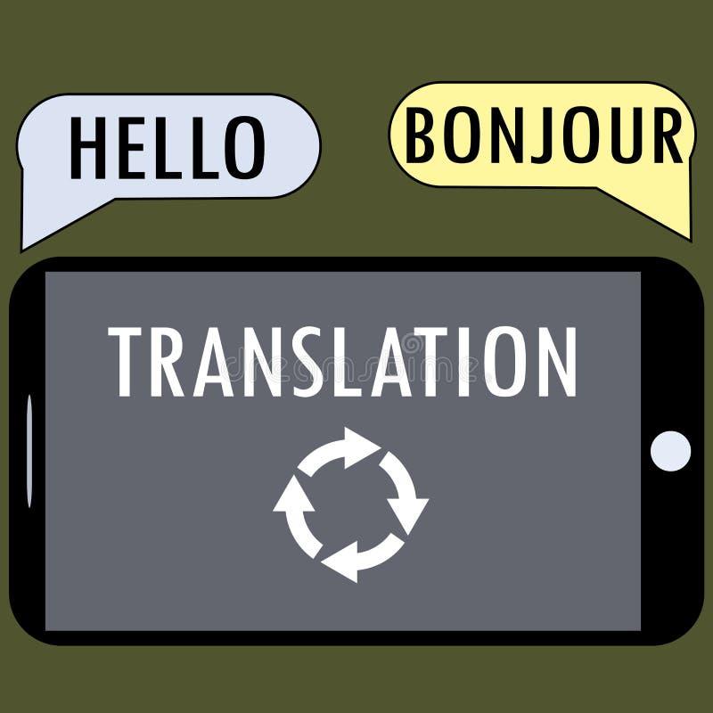 Traduzione da uno smartphone illustrazione vettoriale