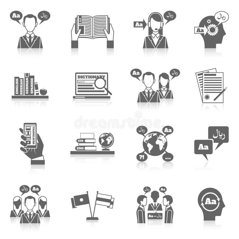 Traduzione ed icona del dizionario illustrazione vettoriale
