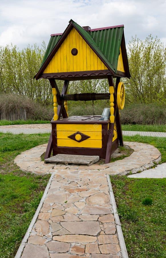 Tradyci ukraiński drewniany well fotografia stock