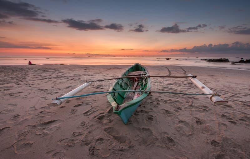 Tradycyjna łódź Rungus Sabah obrazy stock