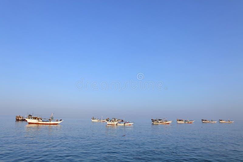 Tradycyjna Arabska łódź rybacka zdjęcia stock