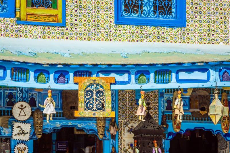 Tradycyjna Arabska architektura w el, Tunezja obrazy royalty free