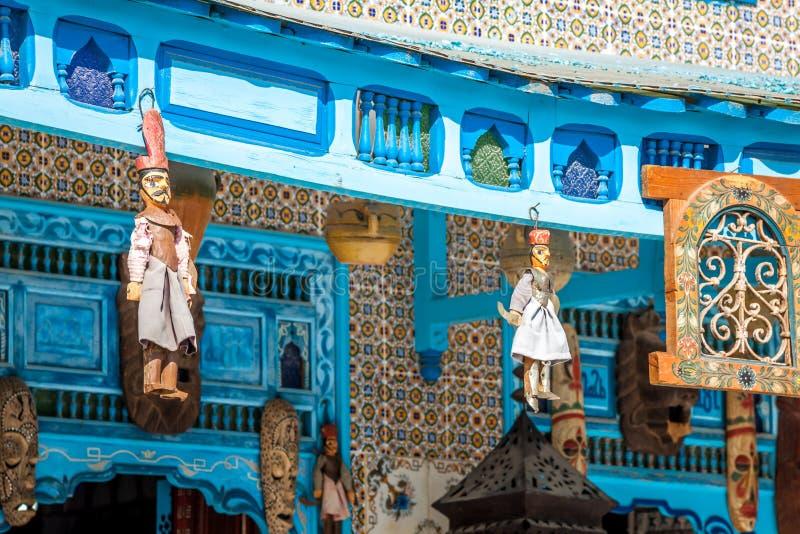 Tradycyjna Arabska architektura w el, Tunezja fotografia royalty free
