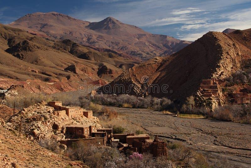 Tradycyjna berbers wioska w Wysokiej atlant górze obraz stock