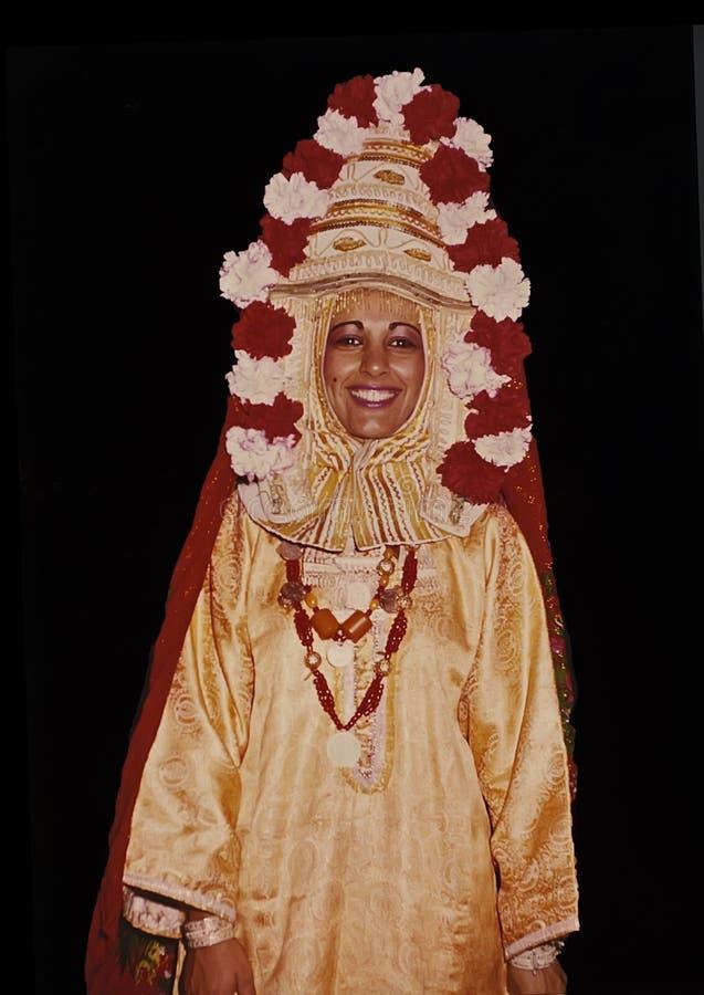 Tradycyjna Bridal suknia od Jemen w Izrael obraz stock