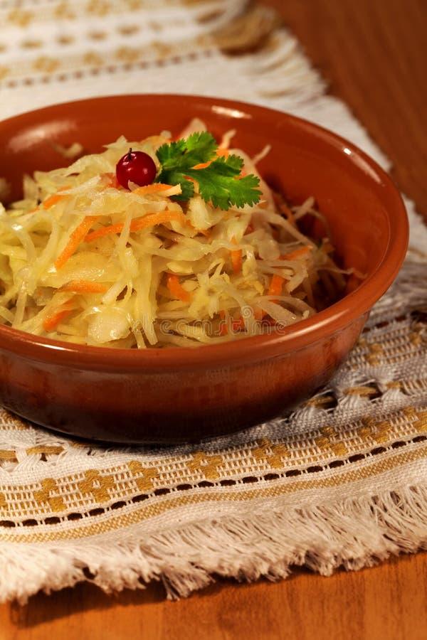 Tradycyjna kapusta etniczna kuchnia Rosja zdjęcia stock