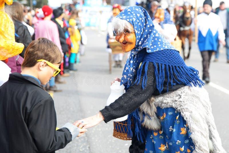 Tradycyjna karnawałowa parada karnawał maski w Luzern, Switzer obrazy stock
