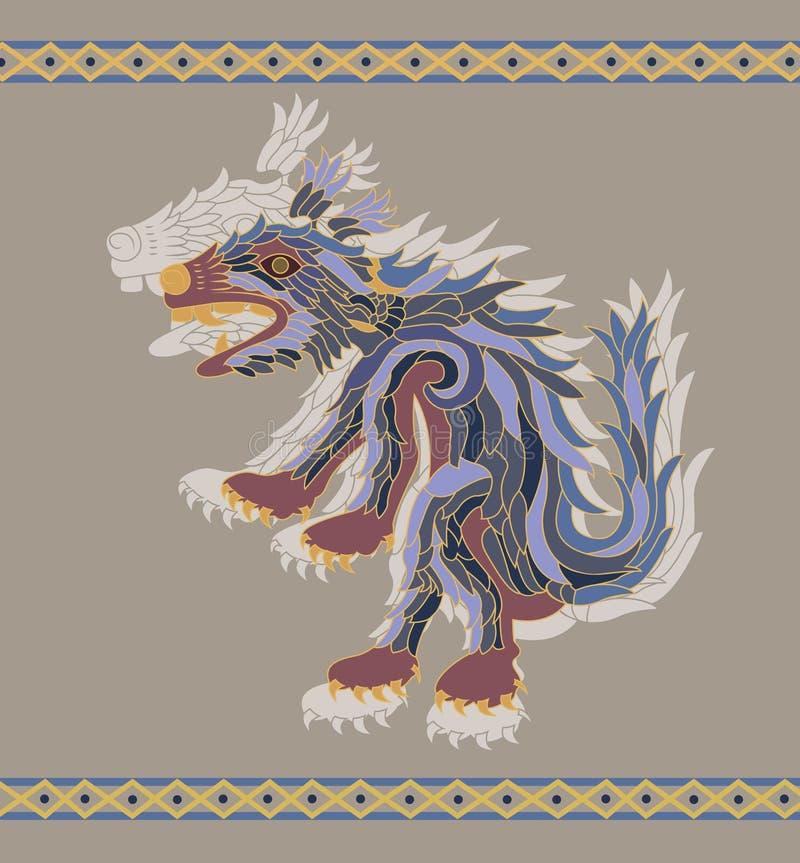 tradycyjna kojot ilustracja ilustracja wektor