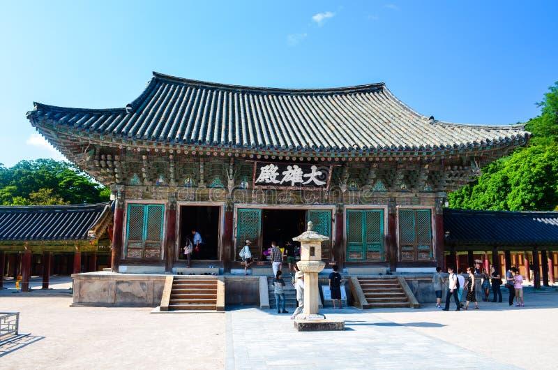 Tradycyjna Koreańska architektura przy Bulguksa świątynią obrazy royalty free