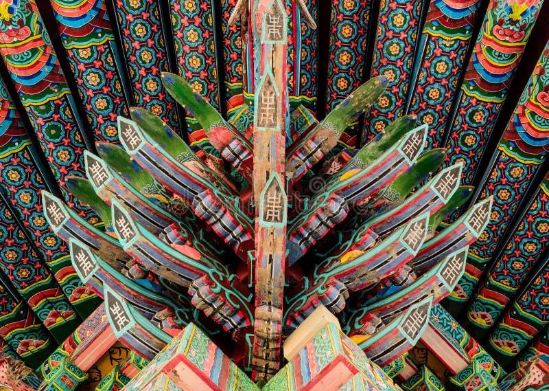 Tradycyjna koreańska architektury dekoracja obrazy stock