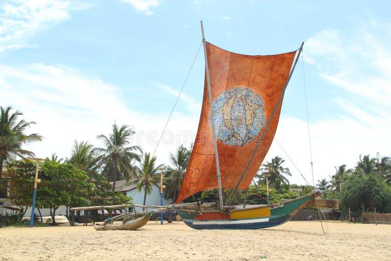 Tradycyjna lankijczyk łódź fotografia royalty free